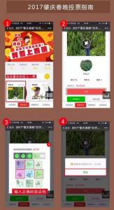 2017肇庆春晚微信拉票指南和投票指南