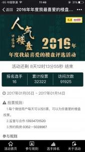 搜狐焦点2016年度我最喜爱的楼盘评选活动