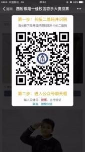 西南大学银翔实验中学校园十佳歌手投票教程