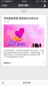 桃源县寻找最美家庭活动