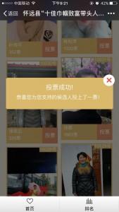怀远县十佳巾帼致富带头人网络评选投票指南