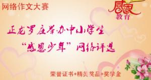 正龙罗庄举办中小学生感恩少年网络评选微信投票操作攻略